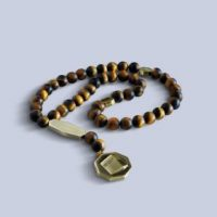 Octagon Kaabah Frosted Tiger eye
